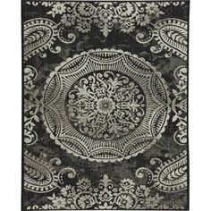 Balta US Georgiana Black 7 ft. 10 in. x 10 ft. Area Rug-304136902403051 at The Home Depot