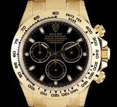 Rolex Unworn Cosmograph Daytona Gents 18k Yellow Gold Black Dial B&P 116508