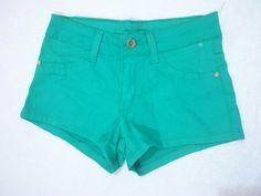 Short Jeans Verde Água
