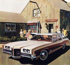 1971 Pontiac Grand Safari 3-Seat Station Wagon - 'Shopping Westport': Art Fitzpatrick and Van Kaufman