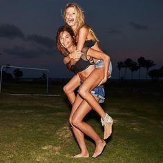 Lily Aldridge and Behati Prinsloo for Victoria's Secret Swim 2015 in Puerto Rico January 2015 #somethingbigiscoming VS Swim Special