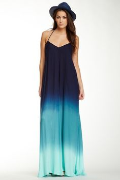 Cute ombré blue maxi
