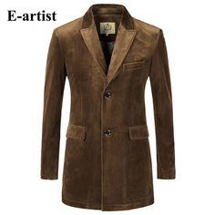 Mens Slim Fit Long Solid Velvet Blazer Jackets Causal Suit Outwear Coats  Overcoats Plus Size Wine d13d6e437