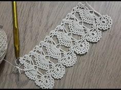Long Ships Pole Edge Lace - Jewelry World Filet Crochet, Crochet Doily Rug, Crochet Shawl, Crochet Flowers, Crochet Stitches, Knit Crochet, Crochet Boarders, Crochet Edging Patterns, Crochet Designs