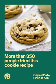 Ever wanted to make the perfect chocolate chip cookie? See how Pinners have tried (and succeeded) to make the perfect cookie.