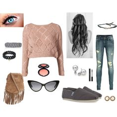 """junior high first day of school outfit"" by kleshea on Polyvore"