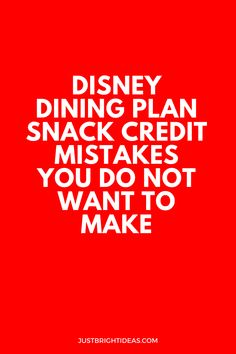 Don't be a Dining Plan Snack Credit Newbie! One of the easiest ways to get the best value out of your dining plan is to make the most of your snack credits. But it's so easy to make a rookie mistake if you've never used the plan before. So today we're looking at 8 different mistakes you could make, and how to avoid them!
