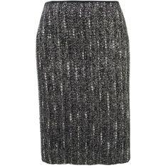 PRADA Tweed Irise pencil skirt found on Polyvore