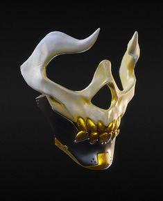 Mascaras - Military (Dark horde) - the unknown - Samurai Tattoo, Armor Concept, Concept Art, Mascara Oni, Escudo Viking, Character Concept, Character Art, Objet Wtf, Skull Mask