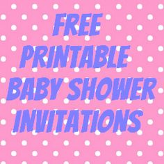 Free Printable Baby Shower Invitations For Boys And Girls // Such Cute  Designs We Can