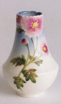 Image detail for -Dahlia design sculptured porcelain small flower vase