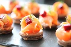 Fred Ponnavoy's Chocolate Blinis with Smoked Salmon and Poached Lemon   Recipe