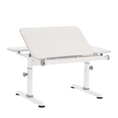 Tiltable table top for writing, reading and drawing.