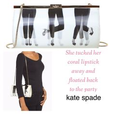 """KATE SPADE 🎶Dancing Feet Shoulder Bag A Kicky Clutch style shoulder bag with gold tone chain. Clasp closure. Dimensions are 10"""" x 5"""" x 1.5""""  NWT but has some light scratches on gold metal. The hologram creates movement and dancing as you move. So very retro! kate spade Bags"""