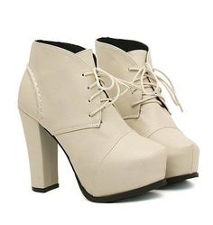 Korean Style Lacing High Heels Shoes Short Boot--Click the picture can place an order, we support wholesale.