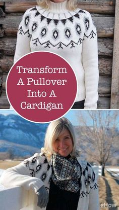 Turn an older, maybe smaller pullover into a cardigan by adding a zipper right down the middle. It's SEW easy!