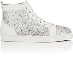 Christian Louboutin Men's Galaxtidude Flat Leather & Suede Sneakers