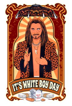 It's White Boy Day - Dave Nestler Pinup Comic and Entertainment Art - Paintings & Prints People & Figures Other People & Figures Female - ArtPal Romance Art, True Romance, Romance Movies, Boys Day, People Figures, Best Movie Posters, Gary Oldman, Iconic Movies, White Boys
