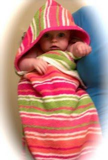 Hooded Towel Tutorial- We received one as a gift when Abby was born and now I can finally make us some more! :)
