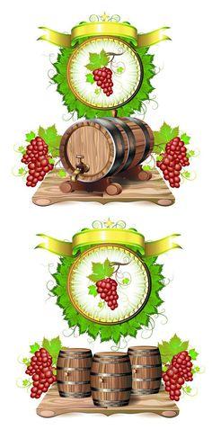 Cask wine 02 Vector Graphic