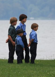 Amish boys  / OH HOW PRECIOUS.  I HOPE THEIR PARENTS LOVE THEM ENOUGH.  THEY SEEM TOO STRICT AND ACT LIKE THEIR CHILDREN ARE PART OF THE FARM ANIMALS HOW THEY WORK THEM!)  THEY'RE JUST AS SWEET AS COULD BE.