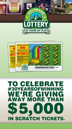 Enter to win Scratch tickets. We're celebrating  #30yearsofwinning by giving away more than $5,000 in Scratch tickets!  The more entries we get, the more tickets we'll give away.
