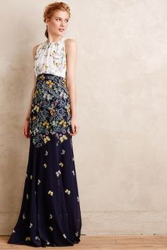 Erin Fetherston Butterfly Garden Gown #anthrofave