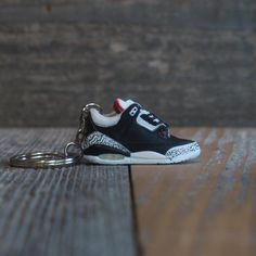timeless design 15d71 f2c00 Air Jordan Black Cement 3 III Sneaker Keychain