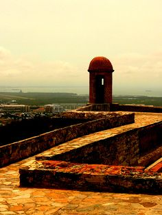 Detalle del fortín Solano, antigua fortaleza militar construida en 1766. Puerto Cabello, Venezuela