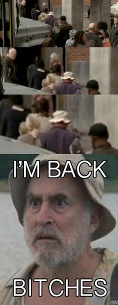 The Walking Dead.. Dale's back!  I WISH this was true, but it would make for a seriously screwed up story line. Just don't think Dale could come back. :(