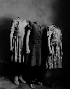 Ghost Girls | Indulgy | headless | ghosts | eerie | spooky | sisters | black & white photography | afterlife | spirit world |