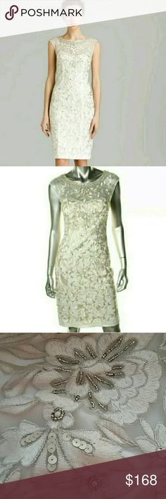 NWT Sue Wong Sequined ivory dress Sz  4 Designer Sue Wong  at her best with this magical dress. Truly out of a fairy tale. Believe me when I say pictures do not do this gem justice. See additional picture posting. Sue Wong Dresses