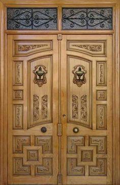 64 Super Ideas For Simple Double Door Design Wood Door Gate Design, Pooja Room Door Design, Double Door Design, Wooden Double Doors, Wood Doors Interior, Front Door Design, Doors Interior