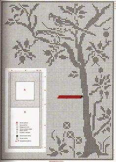 Филейное вязание. Деревья