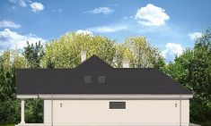 Elewacja lewa projektu Willa Parkowa 5 Plans, Garage Doors, Outdoor Structures, House Design, Cabin, House Styles, Outdoor Decor, Floor, Home Decor