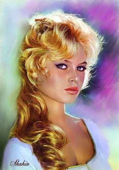 Brigitte Bardot by shahin {from Iran} ~ digital painting
