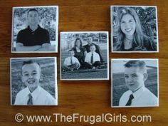 Photo Coasters Wedding Favors