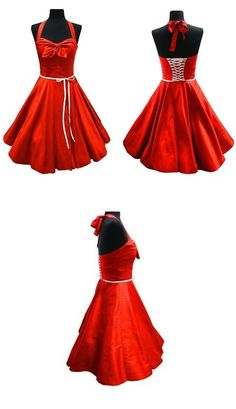 Petticoat Kleid mit Neckholder - Schnittmuster und Nähanleitung via Makerist.de