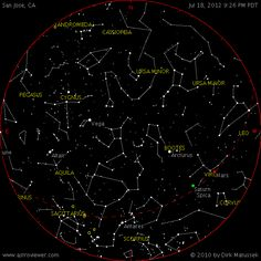 A website that shows the stars, constellations and planets that are currently out above you. A great reference tool for you stargazers.