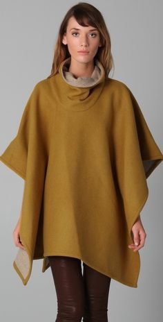 Ok - I've never been a cape or poncho wearing gal but this, this I like.  Reversible (in the good way) cape from Pendleton