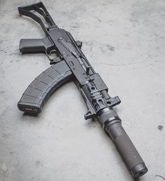 wicked little fellow - © - Weapons Lover Military Weapons, Weapons Guns, Guns And Ammo, Micro Draco, Ak 47 Tactical, Tactical Firearms, Battle Rifle, Cool Guns, Assault Rifle