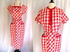 Vintage 1940s Dress and Bolero Jacket Toni Todd by jwvintagecloset