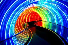We just love the color and imagination that's present all over Orlando. This is a great example: Image Works Neon Tunnel.