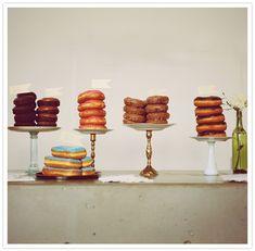donut cake stand display