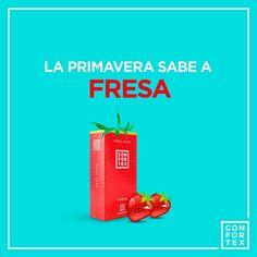Nuestra primavera tiene sabor a fresa, ¿A qué sabe la tuya?🌺🌾🍓#LessWhatsappMoreSex ........ #fresa #primavera #sprint #fruta #fruit #sabor #sabour #sprinter #frutosrojos #frambuesa #strawberry #sabores #delicioso #confortexcondom #confortex #condones #condoms #sexoseguro #safesex #latex #love #amor #lovers #happy #feliz #pareja #color #frase #frases #color #desing #packaging #diseño