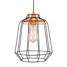 Cult Living Scandi Tall Cage Light in Black