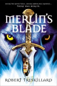 """Merlin's Blade_Treskillard, Robert. As his family, village, and even the young Arthur, are placed in danger, Merlin must face his fears and his blindness to take hold of the role God ordained for him. But when he is surrounded by adversaries, armed only by a sword he helped forge, how will he save the girl he cherishes and rid Britain of this deadly evil ... without losing his life?"""""""