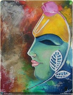 Discover Painting by Mohan Kumar on Touchtalent. Touchtalent is premier online community of creative individuals helping creators like Mohan Kumar in getting global visibility. Shree Krishna, Krishna Art, Doodle Drawings, Doodle Art, New Rangoli Designs, Folk Print, School Painting, Krishna Painting, Indian Art Paintings