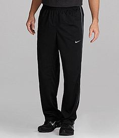 From Nike, the Epic pants feature: elastic waist with internal drawcord side pockets Swoosh trademark design on left thigh polyester, machine washable Imported.