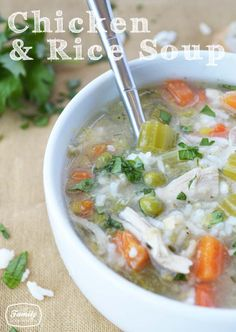 Recipe: Chicken and Rice Soup | Family Gone Healthy